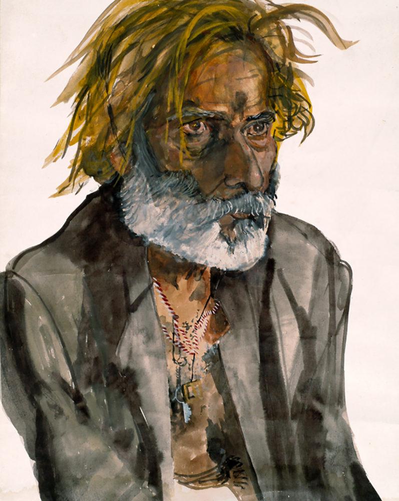 """""""Lakhu"""", Gouache Watercolour by Mumbiram, 1985"""