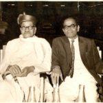 Photo of Ramdas Paranjpe and Wrangler Paranjpe, at an event of felicitation at Pune Municipal Corporation, 1963