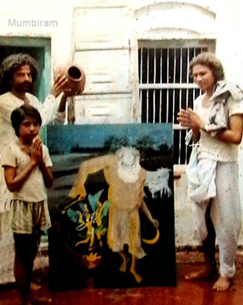 Artist Mumbiram's 'encounter' with Shri Haribaba
