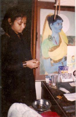 Abhisarika in Mumbiram's Studio